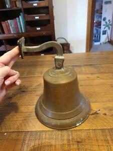Antique Brass Wall Bell Vintage Ship's/ School/Pub Last Orders/Dinner Door Bell