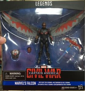 "HASBRO CAPTAIN AMERICA CIVIL WAR MARVEL LEGENDS SERIES 3.75""  FALCON SAM WILSON"