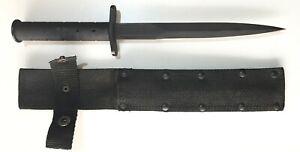 "ARGENTINE MILITARY TACTICAL BLACK MATTE DAGGER 195 mm / 7 5/8"" KNIFE 1995-2005"