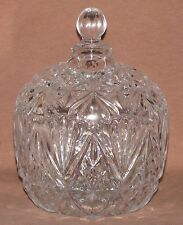 Gibson Home Crystal Glass Covered Bowl With Scalloped Rim & Lid