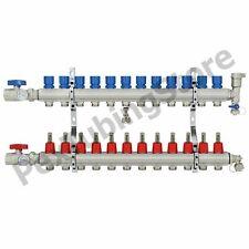 12 Branch Pex Radiant Floor Heating Manifold Set Brass For 38 12 58 Pex