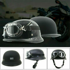 Motorradhelm Retro Oldtimer Rollerhelm Motorrad Halbschalen Helm Schutzbrille DE