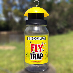 SHOOFLY Fly TRAP Environmentally Safe best fly catcher with attractant in bottle