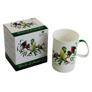 Australia Fauna Flora Souvenir Rainbow Lorikeet Birds Bone China Can Mug Cup