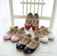 Princesse Chaussures Sandale Glamour Rivet Boucle T-Strap Flats Chaussures Femme