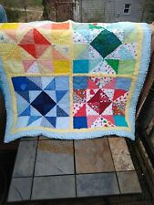Antique Primitive MORAVIAN STAR Amish Quilt Lap Throw Bed Cover 34/36 ❤️ ts17j