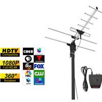 1byone 1080P Amplified Digital TV Antenna Outdoor HDTV UHF/VHF /FM  200 miles