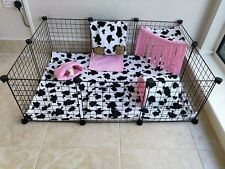 C&C water resistant, fleece cage liner set, guinea pig and small animals, cow.