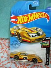 Hot Wheels '76 Greenwood Corvette Hw Race Day Series #4/10 Gold Die-Cast New