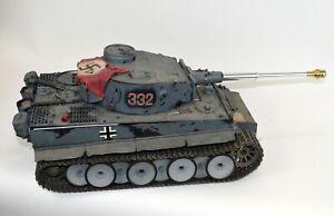 1/16 Gray Tamiya Tiger I Tank Built, Weathered, Eq W/ TK40s And FS06/10 Receiver