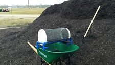 GARDEN ROLLING SIFTER: compost, worm casting, soil,& add-on multi screens sizes