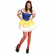 Sexy Snow White Adult Halloween Costume Fairy Tale Maiden Roleplay XSmall