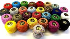 Ancla de 20 + 10 Bolas De Crochet Algodón Perla abigarrada anclaje bordado Hilos