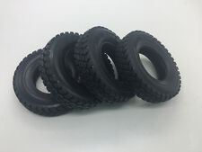 2 pairs Rubber Tires Tyres For Tamiya 1:14 Tractor Truck Trailer Climbing Rc Car