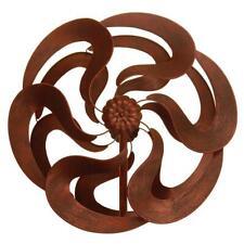 "75"" Bronze Flower Windmill Stake Spinners Yard Outdoor Living Garden Metal New"