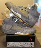 Nike Air Jordan 5 V Wolf Gray Grey 13 136027-005 Retro OG White 1 3 4 11 5 7 8 9