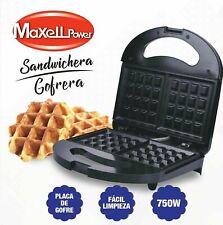 Maxell Power MP-SWG1 Sandwichera Gofera 750W - Negro