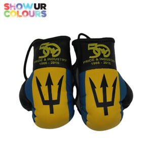 Barbados 50th Independence Memorabilia Mini Boxing Gloves - Show Your Colours