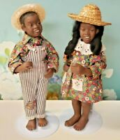 VINTAGE MAGGIE HEAD KANE DOLLS AFRO AMERICAN 1966 NICODEMUS BOY & GIRL DOLLS