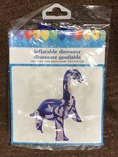 Inflatable Dinosaur Blue Purple Party Birthday Boy Pool Swim Theme #P