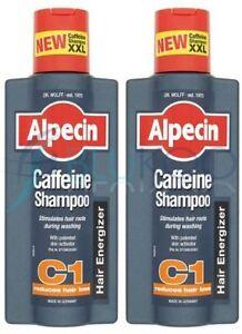 Alpecin Caffeine Shampoo - 375ml (Pack of 2)