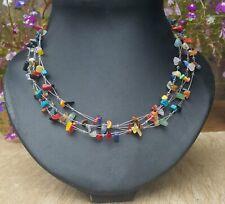 *Freedom Tree* Triple Strand Mixed Gemstone Necklace Chakra /Healing