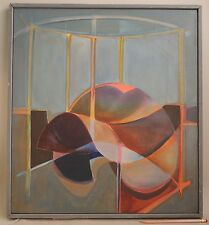 1970s Futurist Abstract Painting Colorist Mid-Century Modern Signed Blaise Vtg