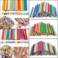 50pcs DIY Cute Stick Mixed Styles Nail Art Stickers Polymer Clay Fimo Canes