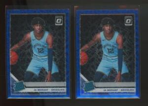 2019 Panini Donruss Optic Blue Velocity #168 Ja Morant RC Rookie Lot Of 2