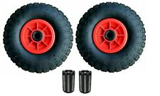 """2 X 10"""" PNEUMATIC WITH 20MM NEEDLE BEARINGS Sack Truck Trolley Wheel 4.10 - 4"""