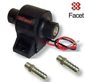 Facet Electric Solid State Fuel Pump 60107 Posi-flow 7-10psi, 2x 10mm unions