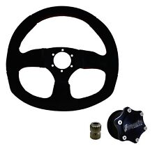 Dragonfire Quick Release Suede D Steering Wheel Kit RZR Maverick X3 Defender All