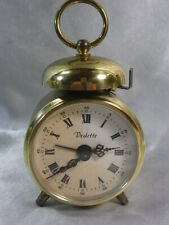 ANCIEN REVEIL MINIATURE VEDETTE MADE IN GERMANY CLOCK
