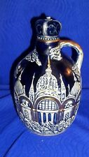 Vintage Blue Jug with Gold Accents