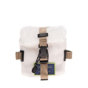 RRP€315 EMPORIO ARMANI Flap Clutch Belt Bag Logo Patch Slouchy Design Drawstring