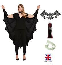 Adult GOTHIC VAMPIRE BAT WINGS Cape Wing Costume Ladies Halloween Fancy Dress UK