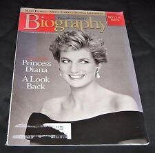 Vintage 1998 Biography Magazine-Princess Diana A Look Back September Edition