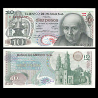 Mexico 10 Pesos Banknote, 1973-77, P-63, UNC, America Paper Money