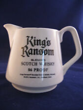 """PITCHER KING'S RANSOM HOUSE OF LORDS SCOTCH VINTAGE AD ITEM RARE 4.5""""TALL 16 OZ."""
