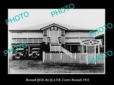 OLD LARGE HISTORIC PHOTO OF BOONAH QLD, THE QATB AMBULANCE STATION c1934
