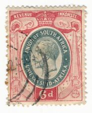 Union South Africa - KGV  6d Revenue Fiscal - Fine used
