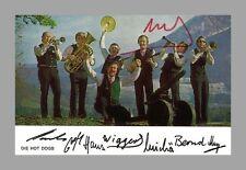 Hot Dogs   dixieland-band   presión-autógrafo en placas label-Star mapa