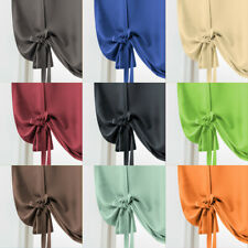 Solid Color Window Short Curtain Bedroom Living Room Blackout Drape Panel Decor
