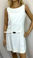 Hugo Buscati Collection Womens Sheath Dress Sleeveless Belted Short Lined Size 6