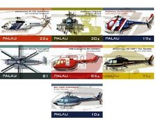 Palau - Helicopter Stamp - Set of 7 MNH