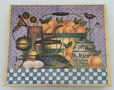Charles Wysocki Stamps Happen #90249 Peaches Country Farm Kitchen Rubber Stamp