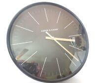"Project 62 Arbor & Emery Quartz Wall Clock 10"" Diameter Black with Glass Lens"