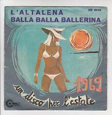 "I COMBOS Disque 45T 7"" L'ALTALENA -BALLA BALLERINA Disco per l'estate 1969 RARE"