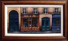 "Giovanni Lanna ""Salon De The""Original Oil Painting on Canvas framed Hand Signed"