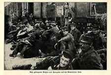 1914 * Rast gefangener Belgier und Franzosen auf der Bahnstation in Köln *  WW1